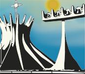 ilustração da catedral de Brasília