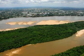 Rio Branco e a cidade de Boa Vista. Foto Jorge Macedo, Detur