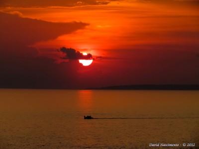 Pôr do sol no rio Negro. Foto: David Nascimento