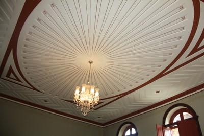 Detalhe do forro interno do Palacete Pinho. Foto Helena Palmquist