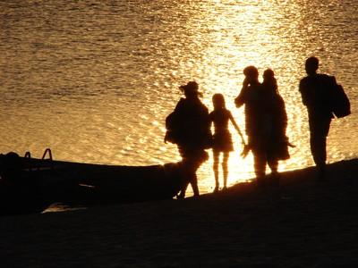 A praia só aparece na seca do rio, a partir de agosto e setembro. Foto: Eduardo Gonçalves