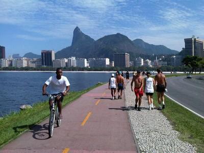 Ciclovia no Aterro do Flamengo. Foto: Marcelo Del Negri