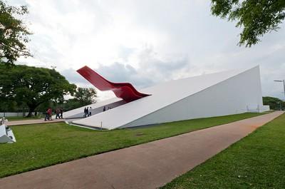 Auditório do Ibirapuera, projetado por Oscar Niemeyer. Foto: Daniel Araújo