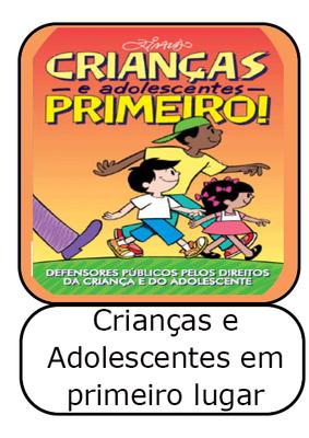 icone - cartilha Crianças e adolescentes primeiro: Defensores Público pelos direitos da criança e do adolescente