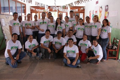 A equipe do projeto Bairro Cidadão