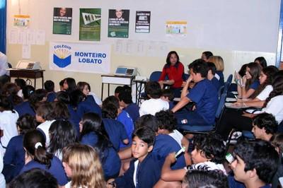 Atentos e participativos, alunos mostraram interesse no tema, mesmo não tendo ainda idade mínima para votar