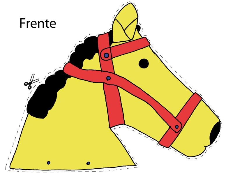 Molde da cabeça de cavalo - frente