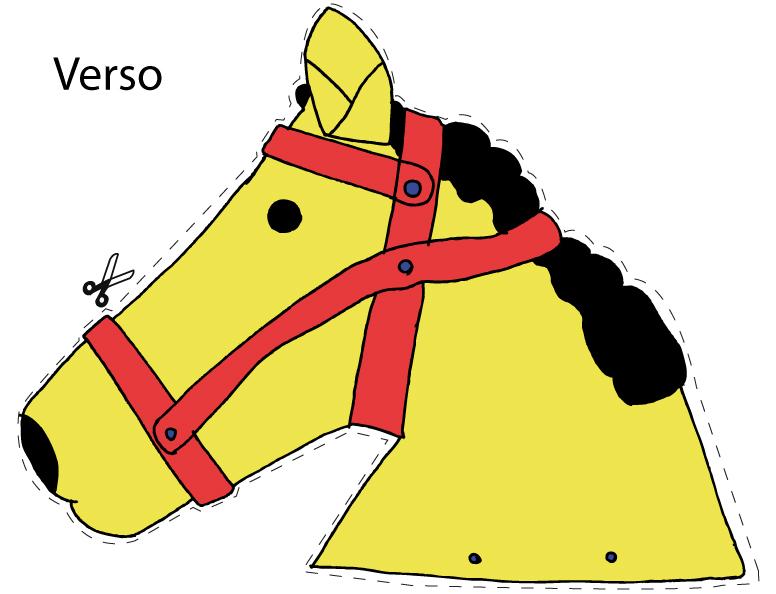 Molde da cabeça de cavalo - verso