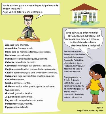 Ari e Munani: palavras indígenas e a Lei 11.645