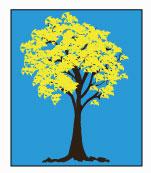 Ilustração de um ipê amarelo