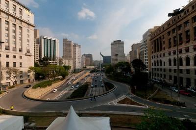 Vale do Anhangabaú, no centro de São Paulo. Foto: Daniel Araújo