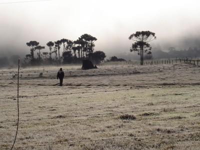 Frio na serra catarinense. Foto: Lucênio Zanoni