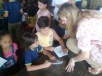 Estudantes em Ribeirão Preto participam de Aulinha da Turminha